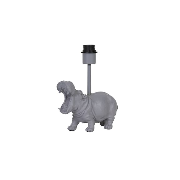 Light & Living Lampvoet Hippo - Grijs - 27x11x28 cm