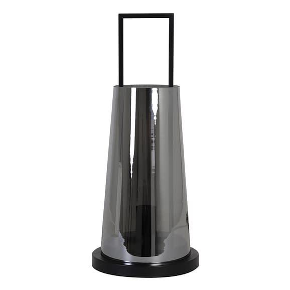 Light & Living Tafellamp Amando - Smoke/Zwart - Ø23x53 cm