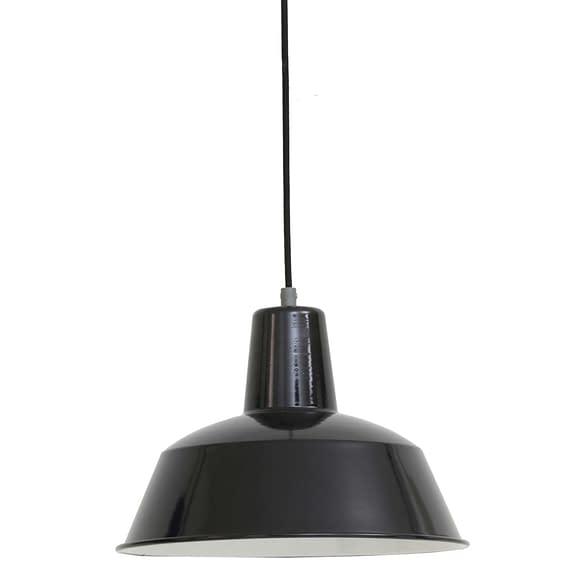 Oude fabriekslamp Dutchsteel Lian zwart