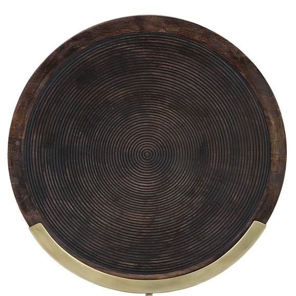Light & Living - Ornament Kamudi - Hout/Antiek Brons - 45x56 cm