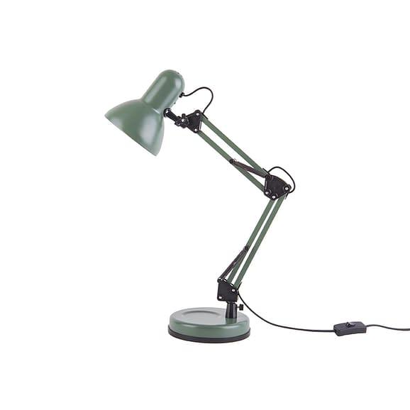 Leitmotiv - Bureaulamp Hobby - Staal mat Jungle Groen - 55x12