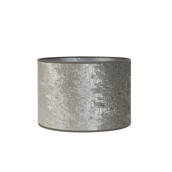 Kap cilinder 35-35-30 cm CHELSEA velours zilver