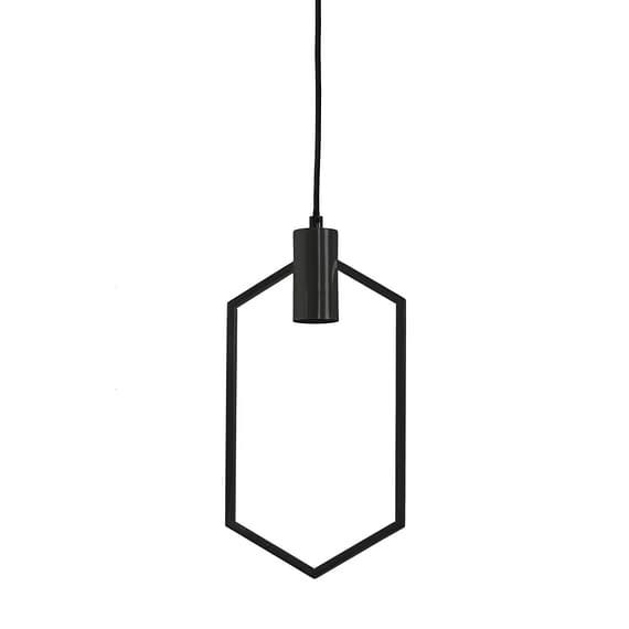 Hanglamp 20x40 cm AINA mat zwart