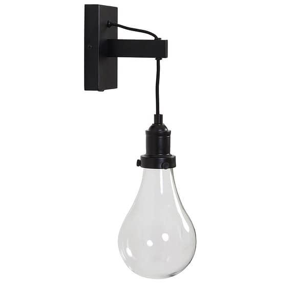 Wandlamp 10x12x35 cm FIEKE glas mat zwart