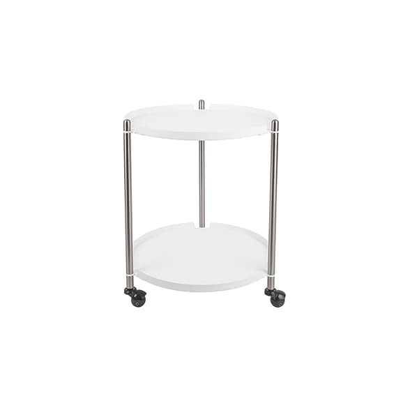 Wit Side table Thrill - Staal Nikkel