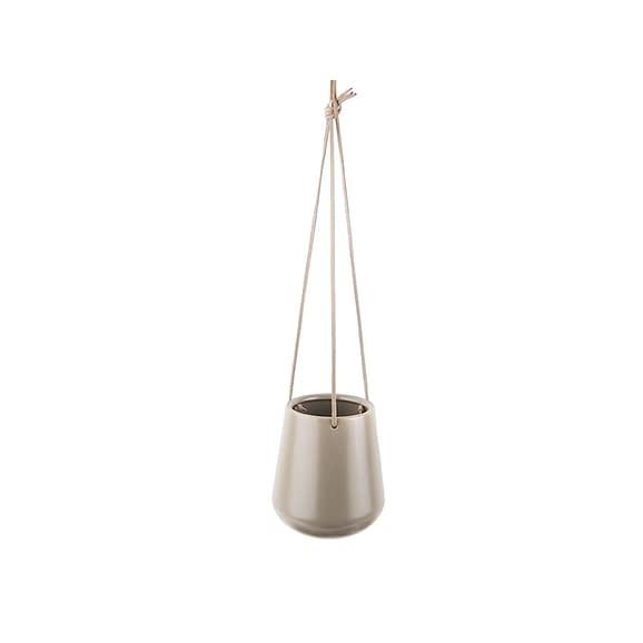 Grijs Hangende plantenpot Skittle - Mat Warm Grijs - 66x13