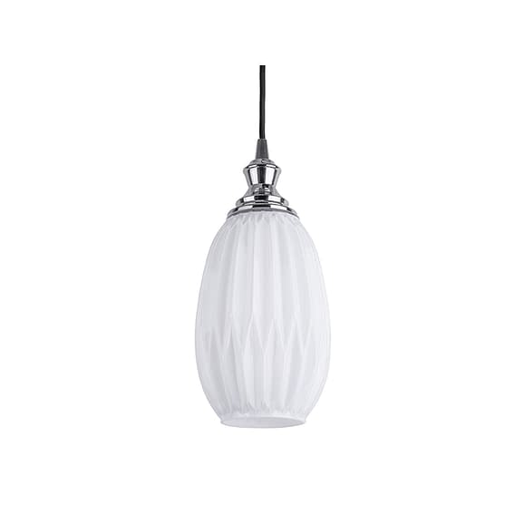 Wit Hanglamp Posh - Ovaal Glas Opaal Wit - 14
