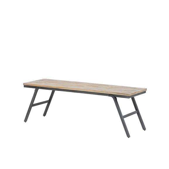 Bankje MACAS - verweerd hout-Antiek-grijs
