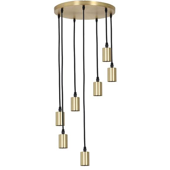 Pendel Hanglamp Brandon - Antiek Brons - 7L - Ø40 x 117
