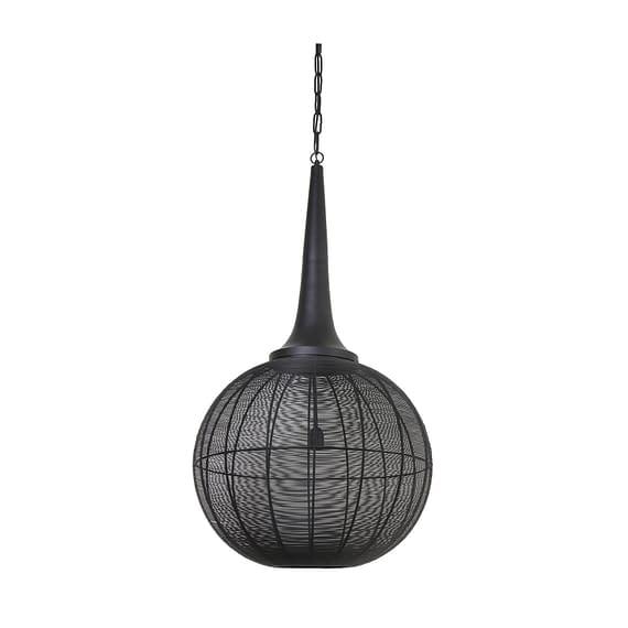 Light & Living - Hanglamp ADRIENNE - Zwart - XL - 3067012