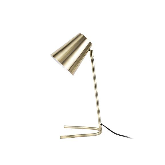 Leitmotiv - Tafellamp Noble - Metaal geborsteld goud - 25x15