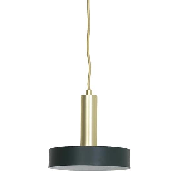 Hanglamp Bosac - Donkergroen/Goud - Ø20 x 5 cm