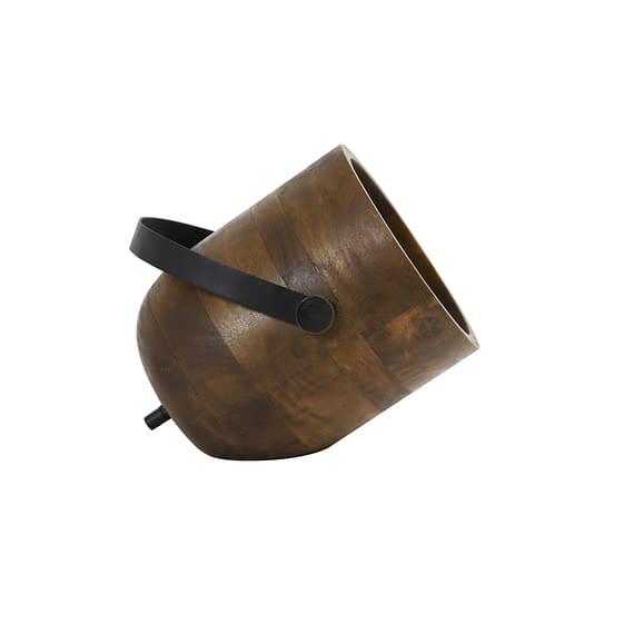 Tafellamp Rehan - Hout/Zwart - 24 x 20 x 23 cm