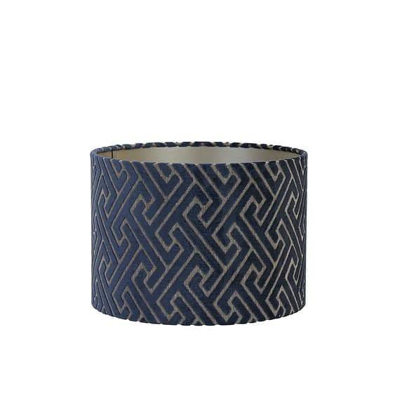 Cilinder lampenkap Maze - Blauw - Ø30x21 cm