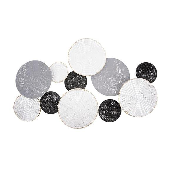 Zwart Muurkunst Circles - Zwart
