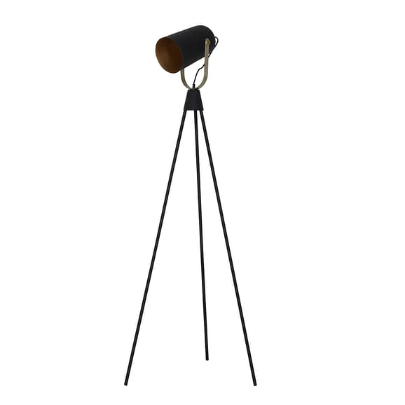 Vloerlamp GHANI - zwart-goud