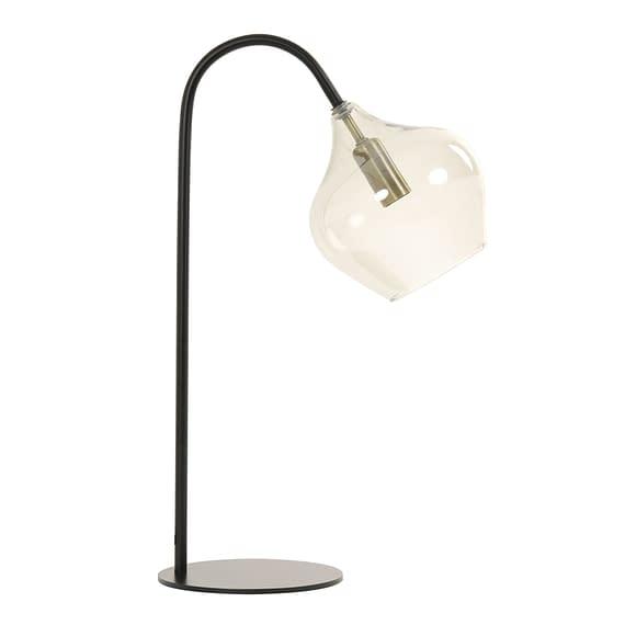 Tafellamp Rakel - Zwart/Smoke - 28x17x50
