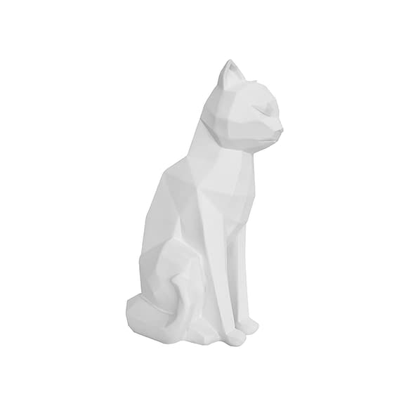 Wit Ornament Origami Cat - Sitting polyresin Mat Wit - 17x11