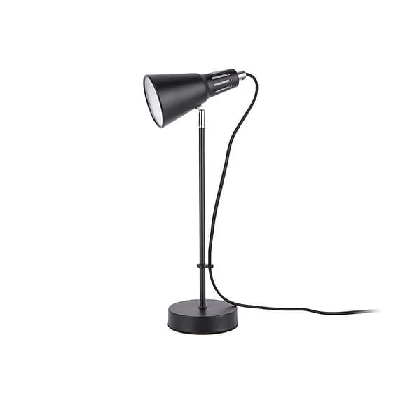 Zwart Tafellamp Mini Cone - IJzer Zwart - 43x16cm