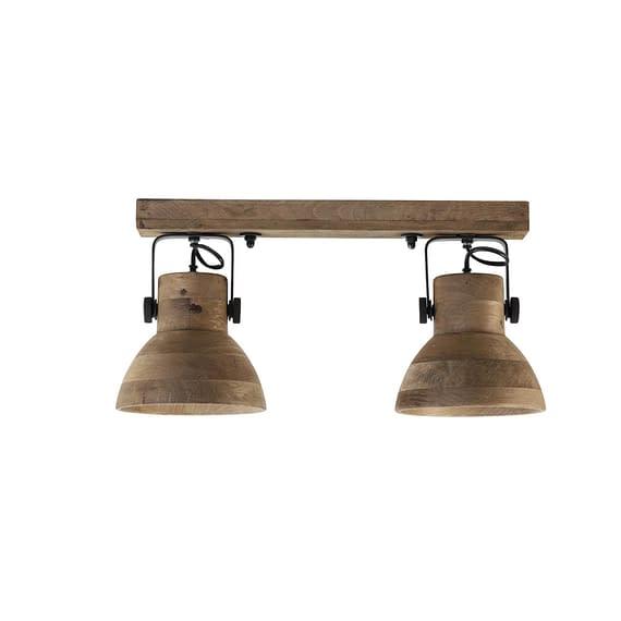 Hang-/wandlamp Ilanio - Bruin/Zwart - 2L