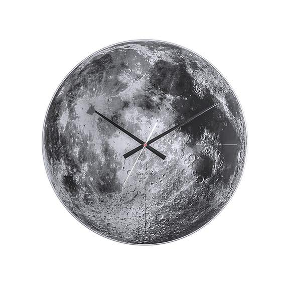 Karlsson - Wandklok Moon - Spiegel glas - Ø60cm