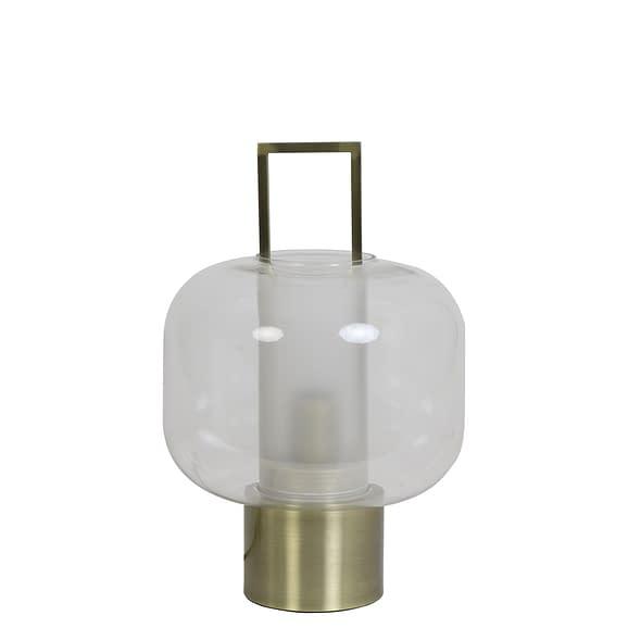 Light & Living Tafellamp Arturos - Glas/Brons - Ø23x36 cm