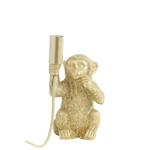 Tafellamp Monkey - Goud - 13x12