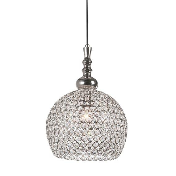 Hanglamp ELMI - Kristal Met Nikkel Kop