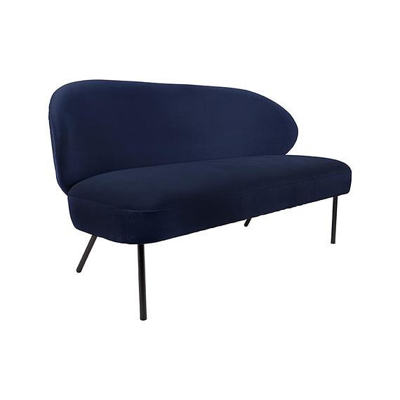 Leitmotiv - Bank Puffed - Velvet Donkerblauw - 143x65x74cm