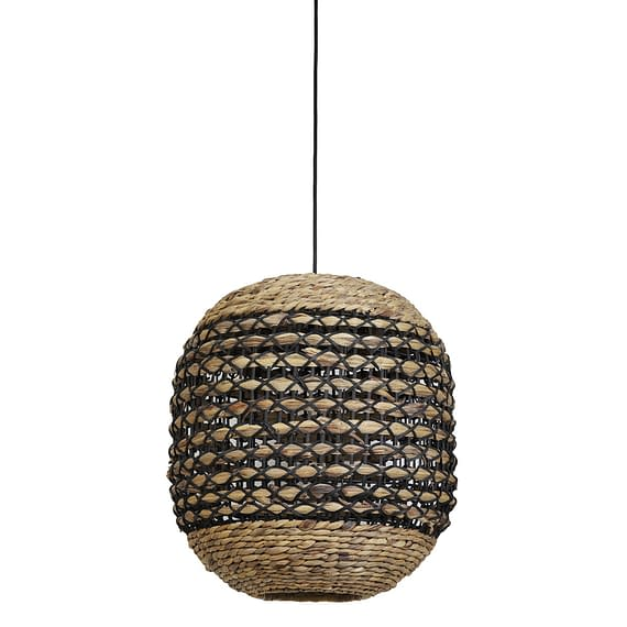 Hanglamp Tripoli - Rotan Naturel/Zwart - Ø42 x 47 cm