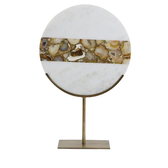 Ornament op voet 35x12x50 cm GOUYA marmer+antiek brons