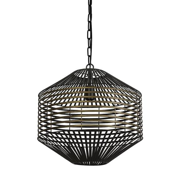 Hanglamp Selena - Antiek Brons/Mat Zwart - Ø47 x 48