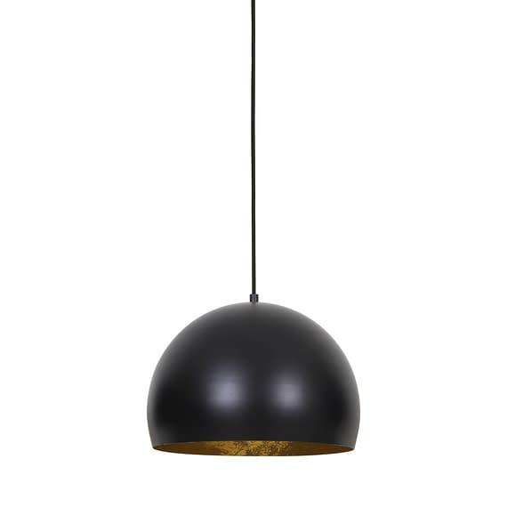 Hanglamp JAICEY - Mat Zwart-Goud - S