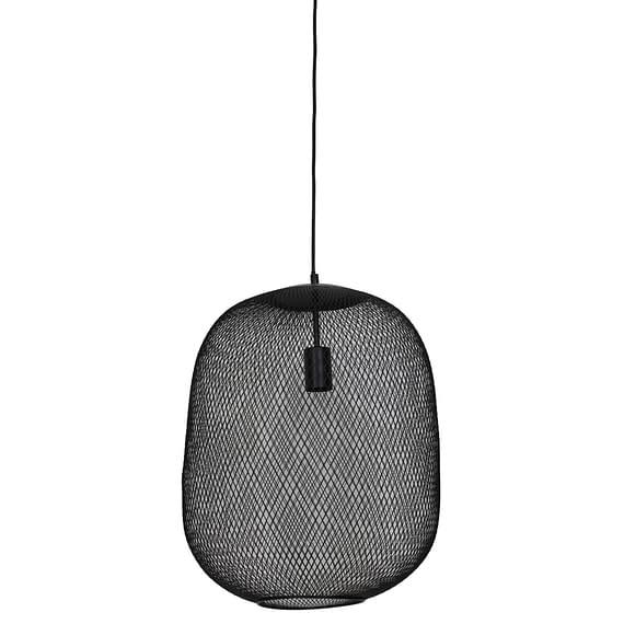 Hanglamp Ø40x48cm REILLEY mat zwart
