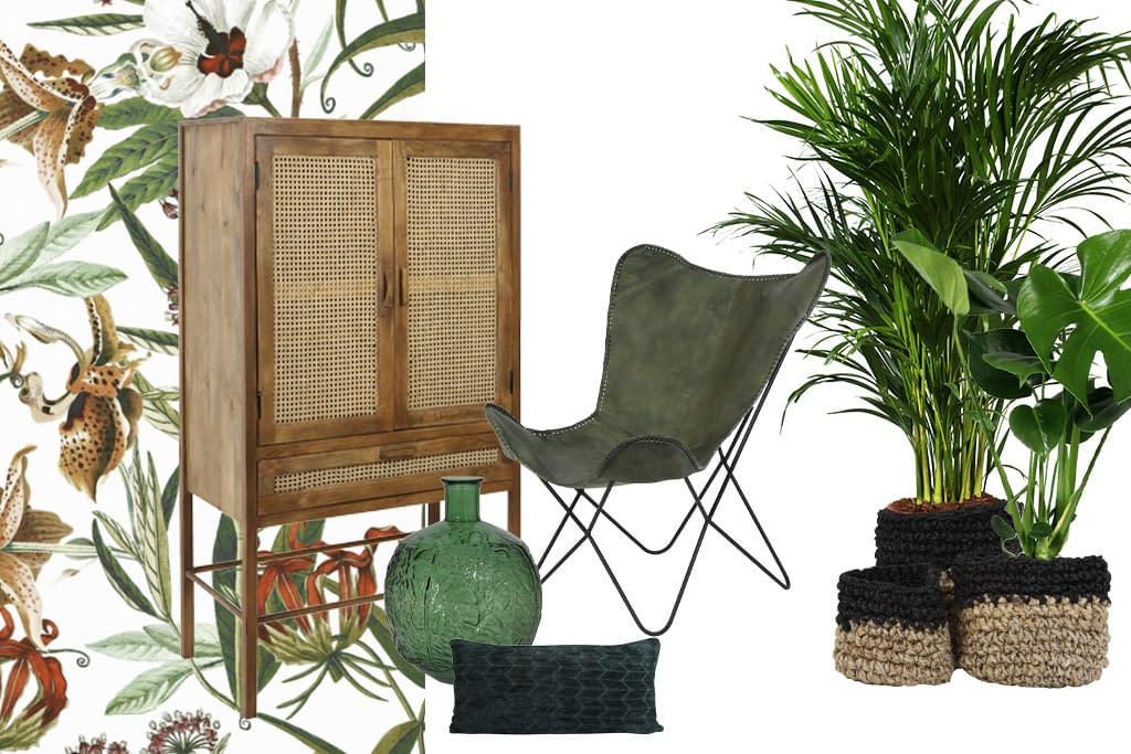 Botanical interieur combineer jij groen, gave prints en natuurlijke materialen als hout