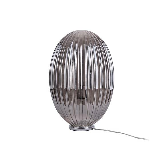 Grijs Tafellamp Smart - Ovaal Glas Smokey Grijs - Large - 30x45cm