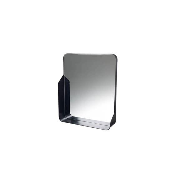 Parlane - Spiegel met plankje Wall - Zwart - 51 x 11 x 60 cm