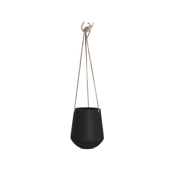 Zwart Hangende plantenpot Skittle - Mat Zwart - 66x13