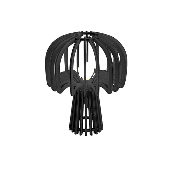 Zwart Tafellamp Globular Mushroom - Hout Zwart - 23x29cm