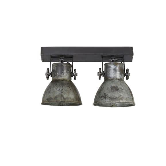 Hang-/wandlamp ELAY - Vintage Zilver - 2-Lichtpunten