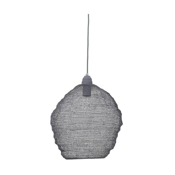 Light & Living - Hanglamp NINA - Van Grijs Metaalgaas - 3072427