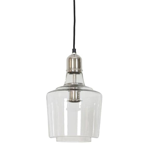 Hanglamp YOLE - glas nikkel 3052919