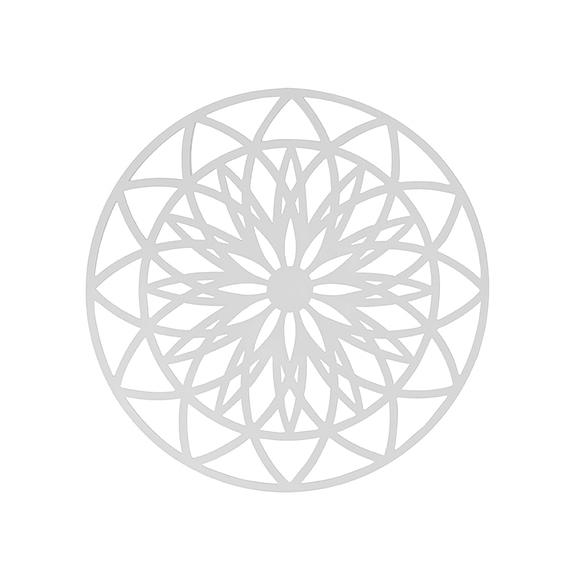 Wit Muurkunst Fairytale - Wit - Large - Ø60cm