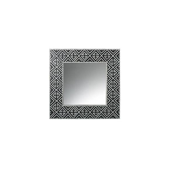 Parlane - Spiegel Angelo - Zwart/Wit - 60 x 60 x 2 cm