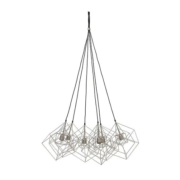 Light & Living - Hanglamp KUBINKA - zilver grijs - 6-lichtpunten - 3091327