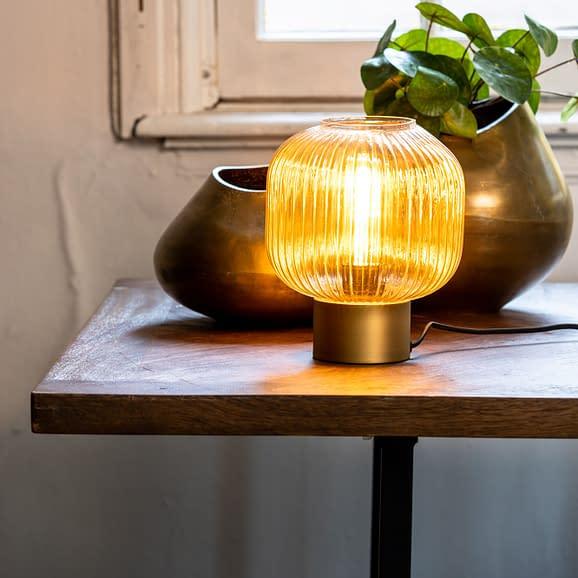 tafellamp glas goud