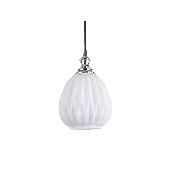 Wit Hanglamp Posh - Rond Glas Opaal Wit - 18