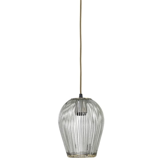 Hanglamp Ø16x20 cm ABBY antiek zilver