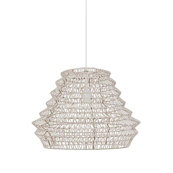 Hanglamp Ø55x40 cm FLAME leer naturel