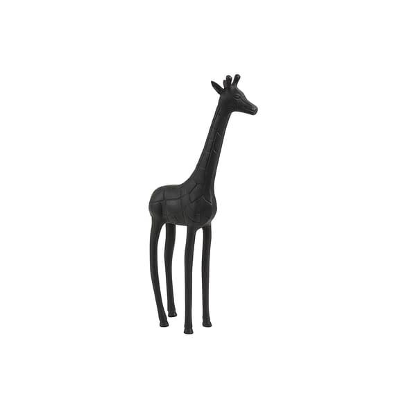 Ornament Giraffe - Zwart - 17x9x46 cm